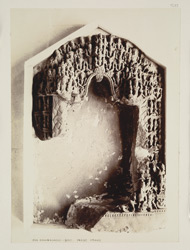 Brahmanabad, Hyderabad District, Sindh. Sculptured image frame